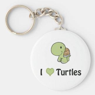 I heart turtles keychain