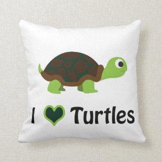 I heart Turtles Throw Pillow