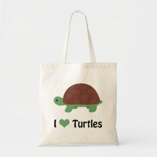 I heart turtles! tote bag