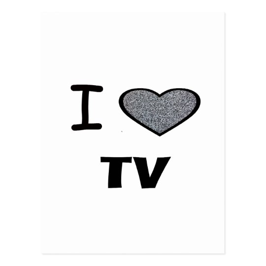 I Heart TV Postcard