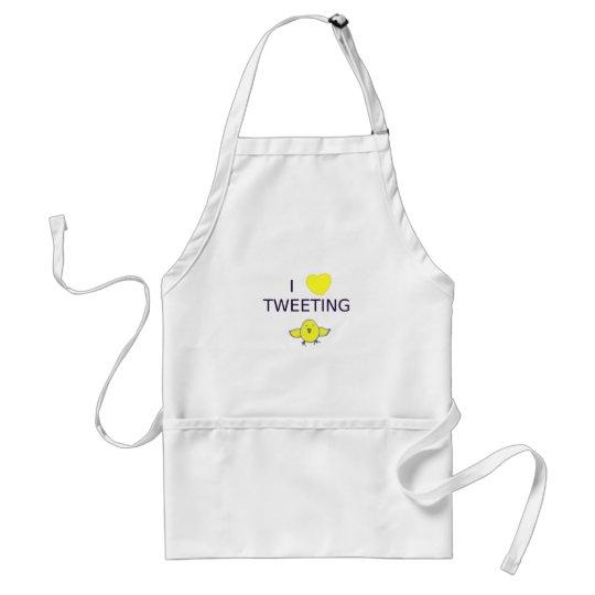 I heart tweeting adult apron