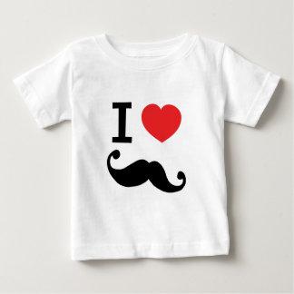 I heart twirly Moustache Baby T-Shirt