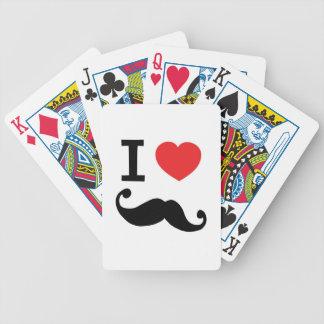 I heart twirly Moustache Poker Cards