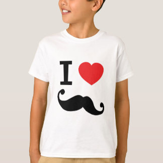 I heart twirly Moustache T-Shirt