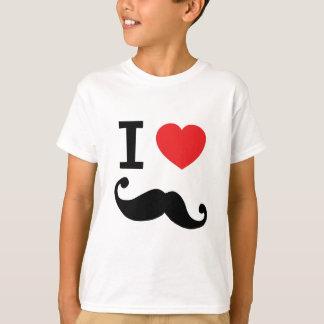 I heart twirly Moustache T-Shirt