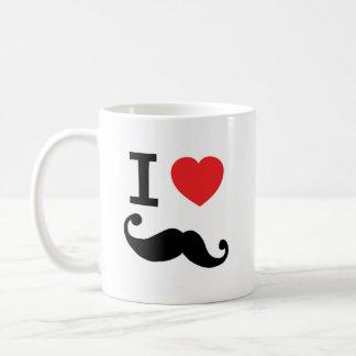I heart twirly mustache coffee mug
