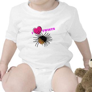 I Heart Twists Baby Bodysuit