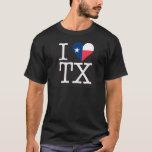 I HEART TX BLACK T-SHIRT