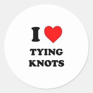 I Heart Tying Knots Sticker