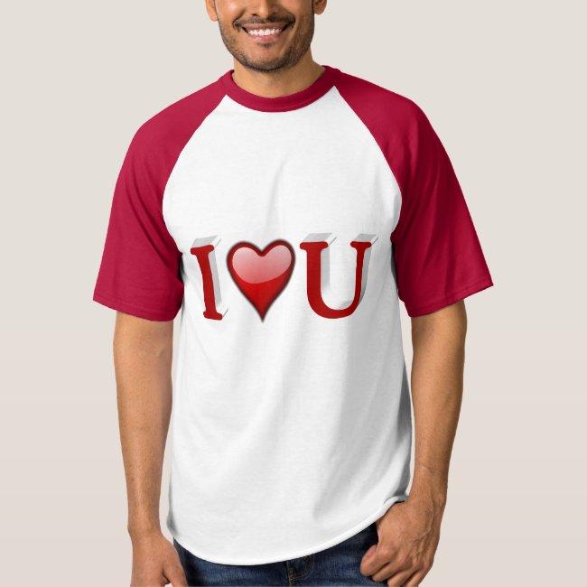 I heart U 3D Valentine's Day Shirt