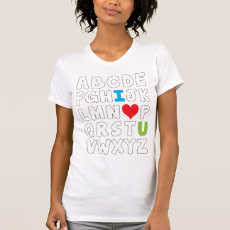 I heart U alphabet T-Shirt
