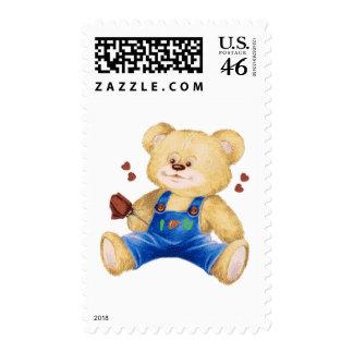 I Heart U Bear Postage