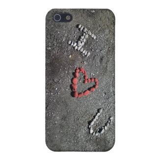I Heart U iPhone 5 Case Red Heart Grey Slate