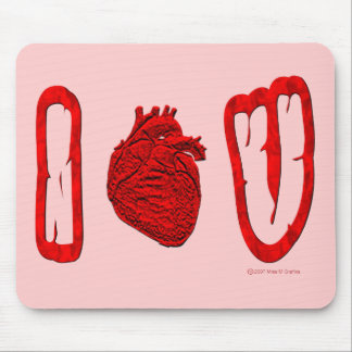 """I """"heart"""" U mousepad"""