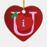 I Heart U Ornaments
