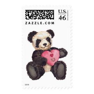 I Heart U Panda Stamp