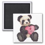 I Heart U Panda Refrigerator Magnets