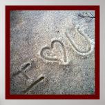 I Heart U Posters