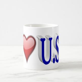 I Heart U.S.A. 3D Mug