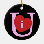 I Heart U Valentine's Day Christmas Tree Ornaments