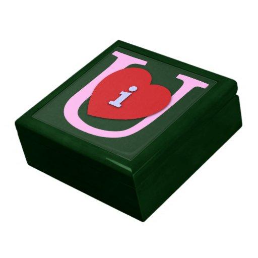 I Heart U Valentine's Day Keepsake Box