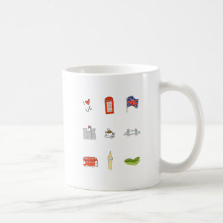I Heart UK, British Love, United Kingdom Landmarks Coffee Mug