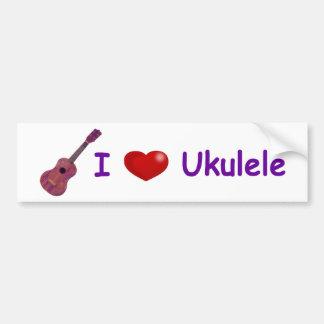 I (Heart) Ukulele Bumper Sticker