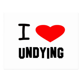 I Heart undying Postcard