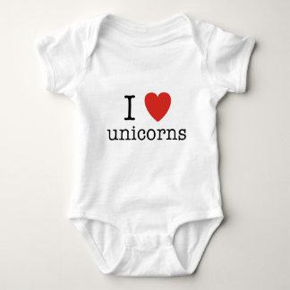 I Heart Unicorns Baby Bodysuit