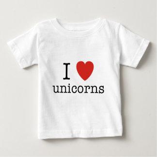 I Heart Unicorns Baby T-Shirt