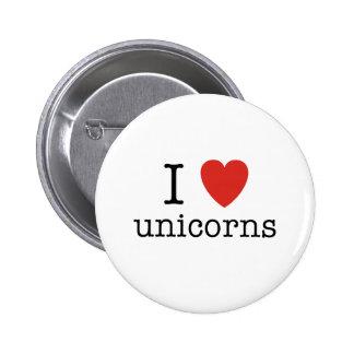 I Heart Unicorns Button