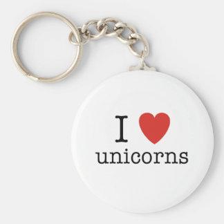 I Heart Unicorns Keychain