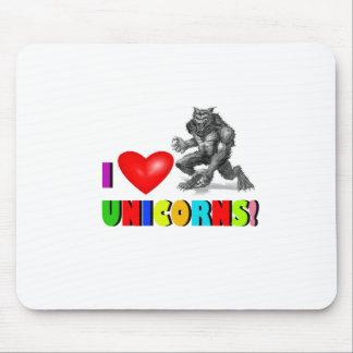 I heart unicorns! mouse pad