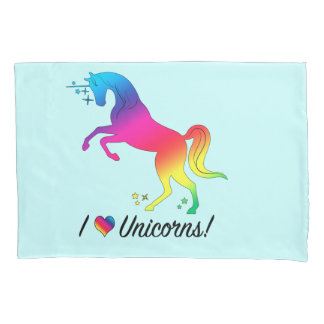 I Heart Unicorns Pillowcase