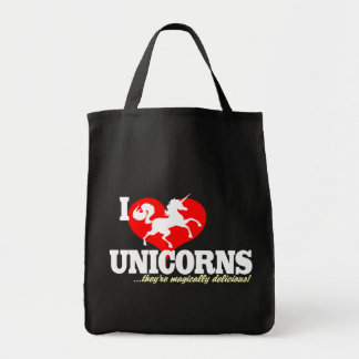 I HEART Unicorns... they're magically delicious! Canvas Bag