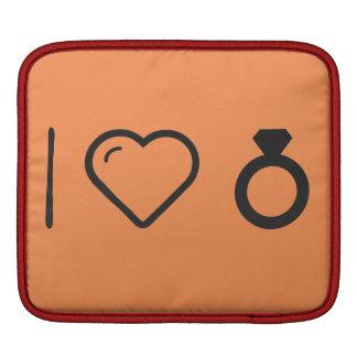 I Heart Unique Diamonds Sleeve For iPads