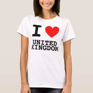 I Heart United Kingdom Shirt