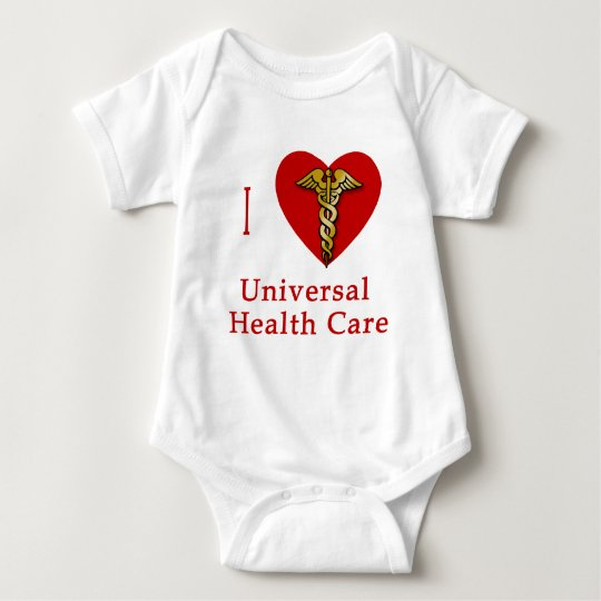 I Heart Universal Health Care Coverage Baby Bodysuit