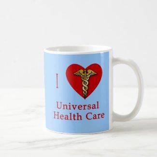 I Heart Universal Health Care Coverage mug
