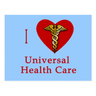 I Heart Universal Health Care Coverage Postcard