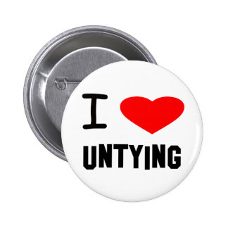 I Heart untying Pinback Buttons