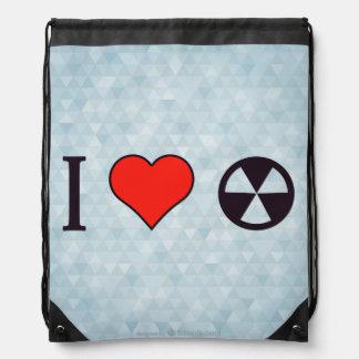 I Heart Uranium Drawstring Bag