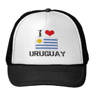 I HEART URUGUAY MESH HAT