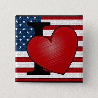 I Heart USA Button