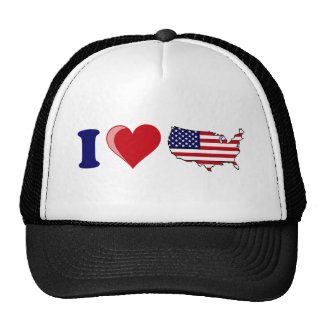 I Heart USA Hat