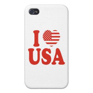 I Heart USA iPhone 4 Case