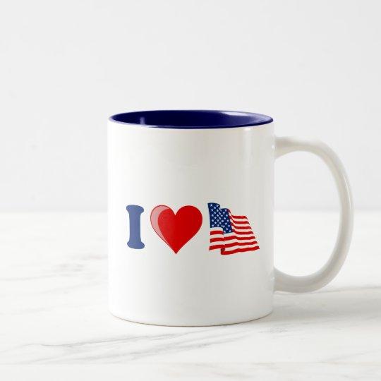 I Heart USA Mug