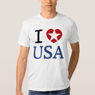 I HEART USA t-shirt I LOVE USA t-shirt with star.