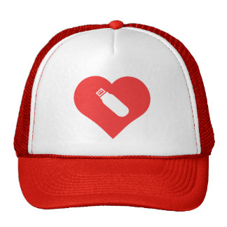I Heart Usb Flash Drives Icon Trucker Hat