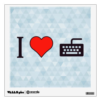 I Heart Using A Black Keyboard Wall Sticker